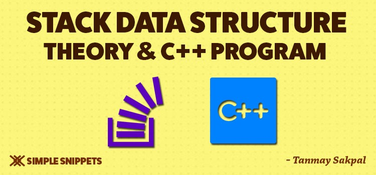 stack data structure with c++ program