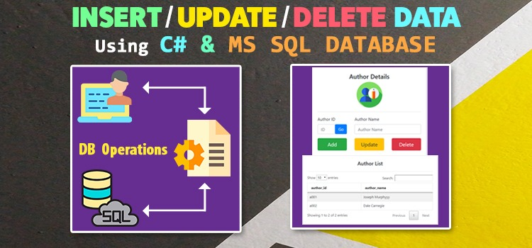 insert update delete data in mssql db using asp